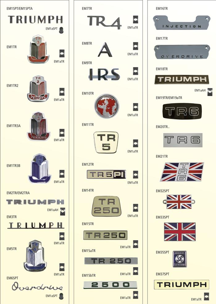 Parts For Triumph TR 2 6