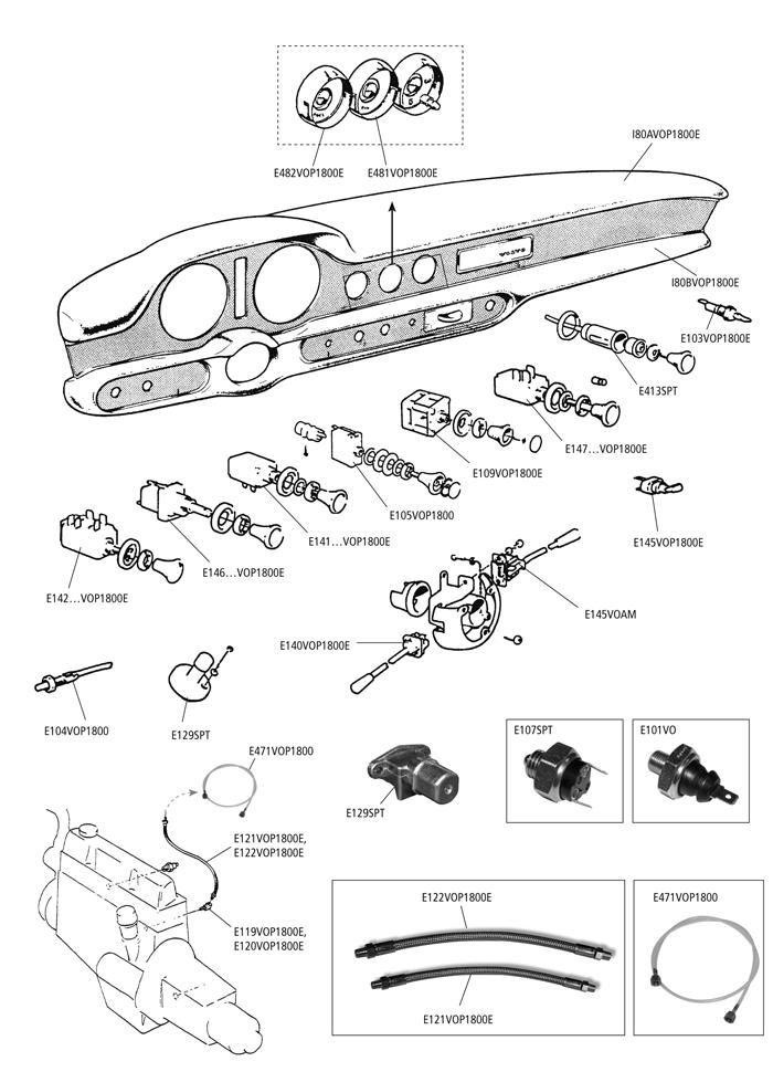 Volvo P1800 E S Es Switches Relays