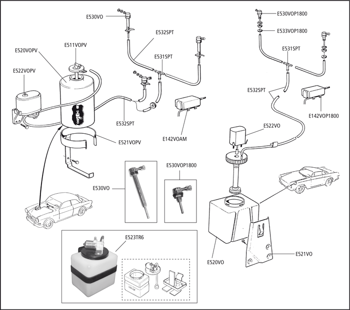 volvo windshield washer diagram