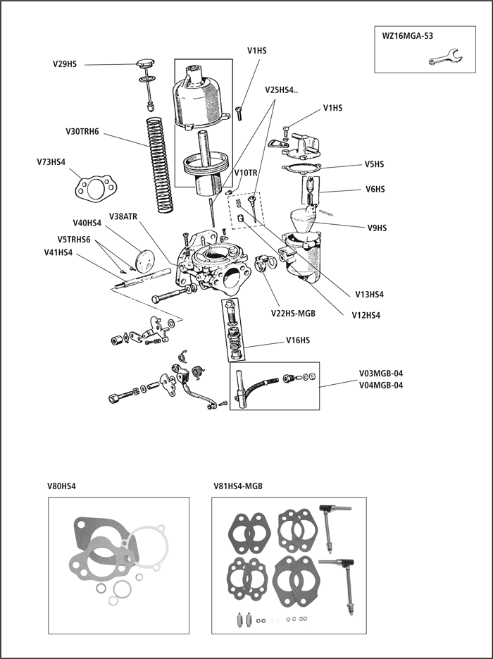 Mg Mgb Mgc Carburettor Su