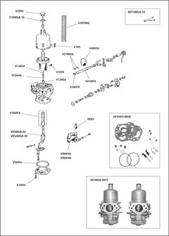 Mgb Carburetor Adjustment moreover Tpic26727 moreover Yamaha Atv 1987 1990 Yfm 350 Moto 4 Repair Manual Improved additionally Tecumseh Carburetor Hookup further Quadrajet Carburetor Parts c 141. on carburetor float diagram
